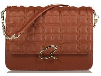 Axel Selina flap bag quilted with chain 1020-0429 016 brown