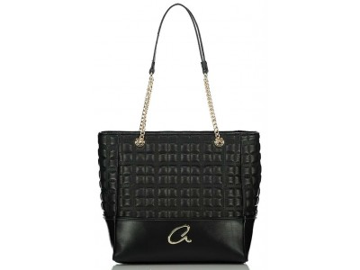 Axel Selina shoulder bag quilted chain 1010-2518 003 black
