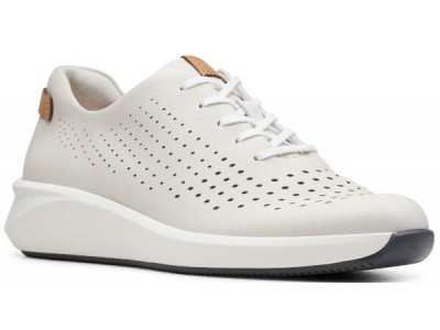 Clarks Un Rio Tie 26148256 white leather