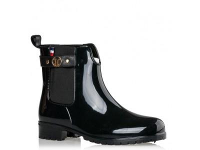 Envie rain boots black V22-08001-34