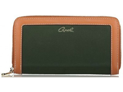 Axel Isabella wallet nylon with zipper 1101-1282 464 forest
