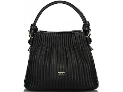 Axel Zoey bag with vertical stitching 1020-0407 003 black