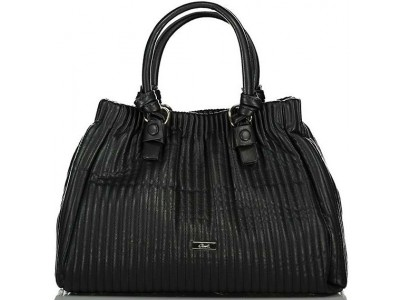 Axel Zoey handbag vertical stitching 1010-2495 003 black